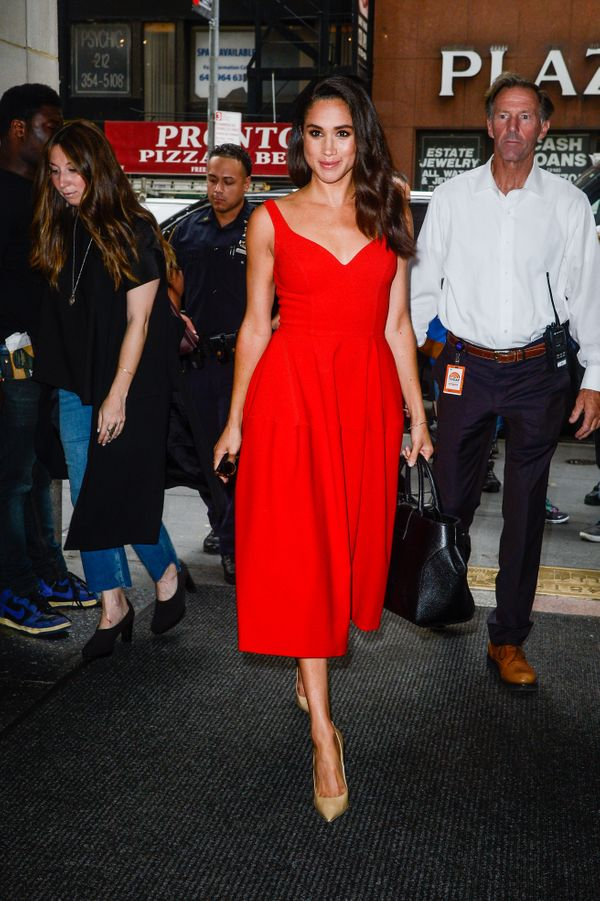 """Entering a""""Today"""" show taping at NBC Rockefeller Center Studios in New York."""
