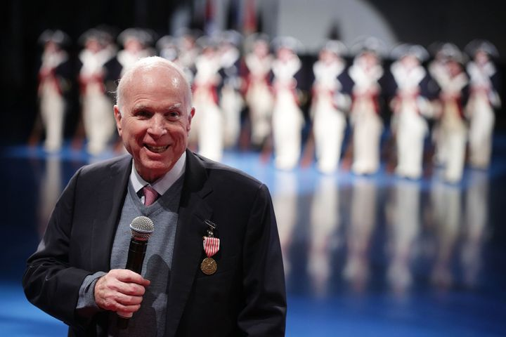 Sen. John McCain (R-Ariz.) speaking at an event in Arlington, Virginia, earlier this month.
