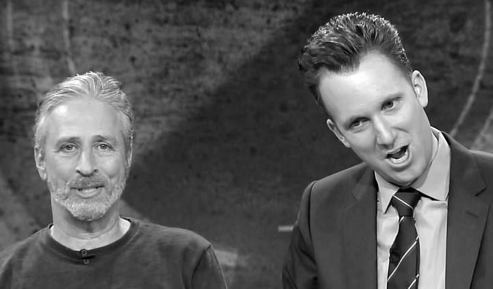 """Jon Stewart and Jordan Klepper on """"The Opposition"""""""
