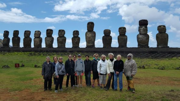 the Women's Travel Group in Easter island, Chile. Ask  us for travel advice for Chile