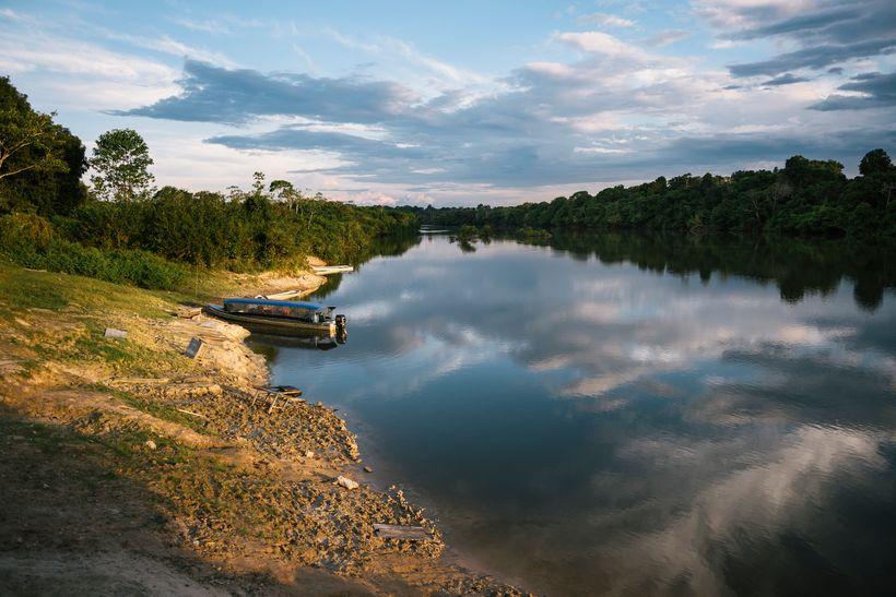 <em>Pot-Kro Village off of Rio Bacaja(Amazon/Brazil)</em>