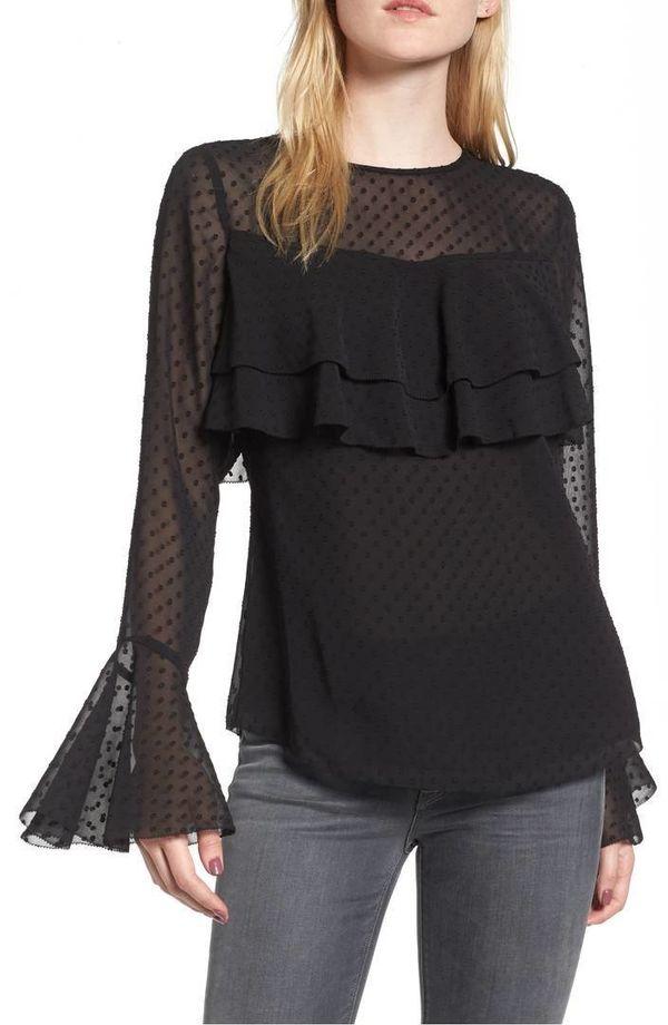 "Shop it <a href=""https://shop.nordstrom.com/s/chelsea28-double-ruffle-blouse/4847112?origin=category-personalizedsort&fas"