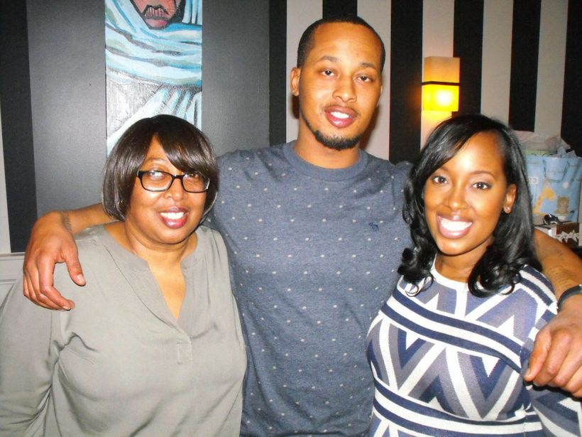 Dreena Whitfield and her mother, Mildreen, and brother Ander