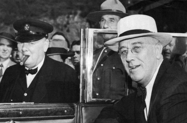 Winston Churchill (left) with Franklin Roosevelt during the Second World War. Churchill coined the phrase...