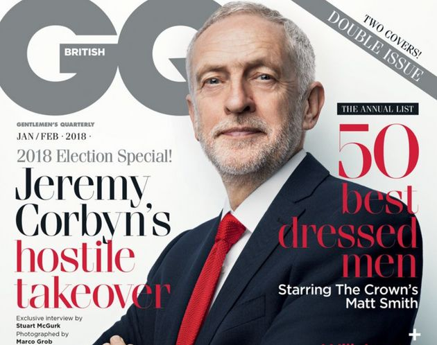 Jeremy Corbyn on the cover of British