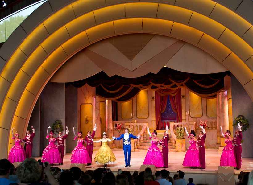 <em>Beauty &amp; the Beast</em> at Disney's Hollywood Studios is a 25-minute Broadway-style performance shown several times e