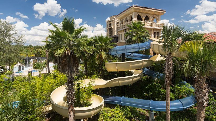 The five pool areas at the Four Seasons Orlando resort include an adults-only pool, family pool, lazy river, and these two wa