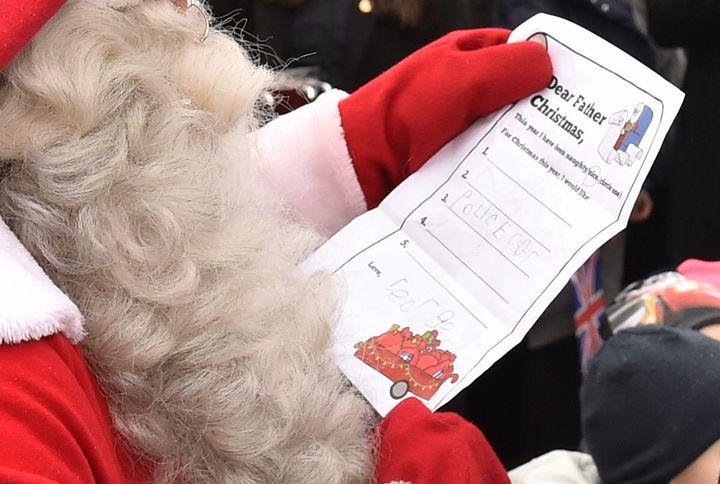 Prince George's Christmas wish list.