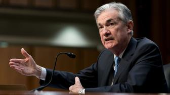 WASHINGTON Nov. 28, 2017 --U.S. Federal Reserve System Chairman nominee Jerome Powell testifies in front of the Senate Banking Committee at the Capitol in Washington D.C., United States of America on Nov 28, 2017. (Ting Shen/Xinhua via Getty Images)