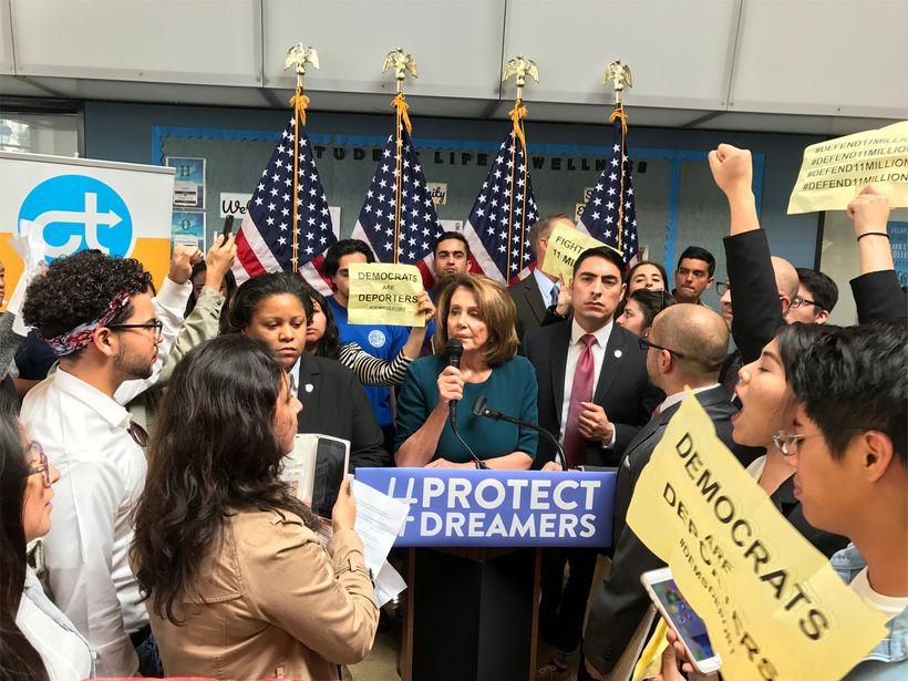 CA. Immigrant Youth Taking Over Rep Nanci Pelosi's DREAM Act Press Conference