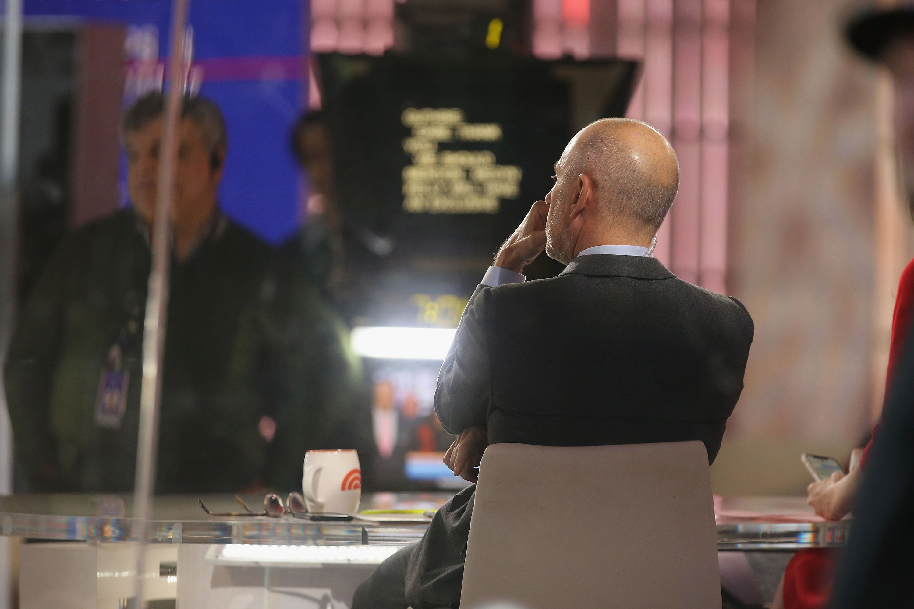 NEW YORK, NY - NOVEMBER 17:  'Today' Show host  Matt Lauer at work in the studio when Tim McGraw and Faith Hill perform on NBC's 'Today' Show at Rockefeller Plaza on November 17, 2017 in New York City.  (Photo by Al Pereira/WireImage)