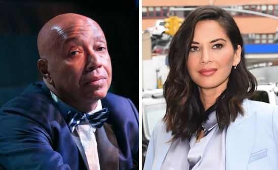 """When Russell Simmons suggested thathis accuser had felt fear and intimidation because he was """"insensitive,"""" Olivia Munn"""