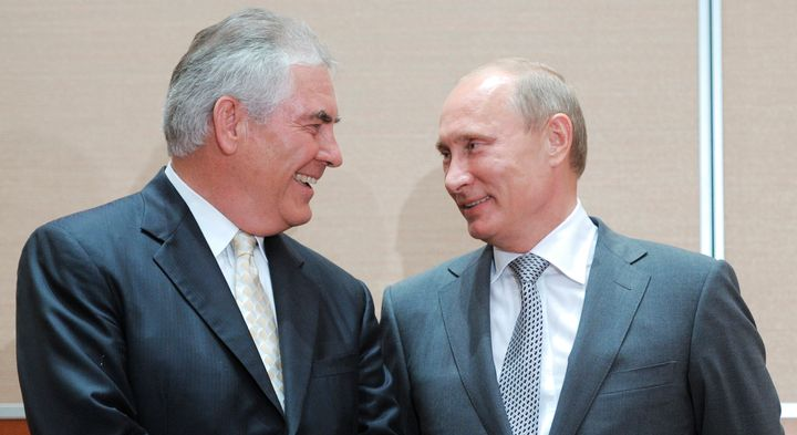 As CEO of Exxon Mobil, Rex Tillerson met Russian President Vladimir Putin in 2011. His business ties to Russia raised co