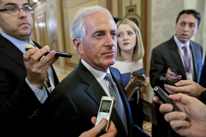 """Sen. Bob Corker (R-Tenn.) had proposed a """"trigger"""" to increase some taxes if revenue targets weren't reached. That appears to"""