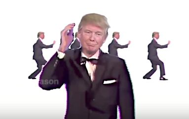 Donald Trump Is Literally A Talking Head In This 'Once In A Lifetime' Mashup
