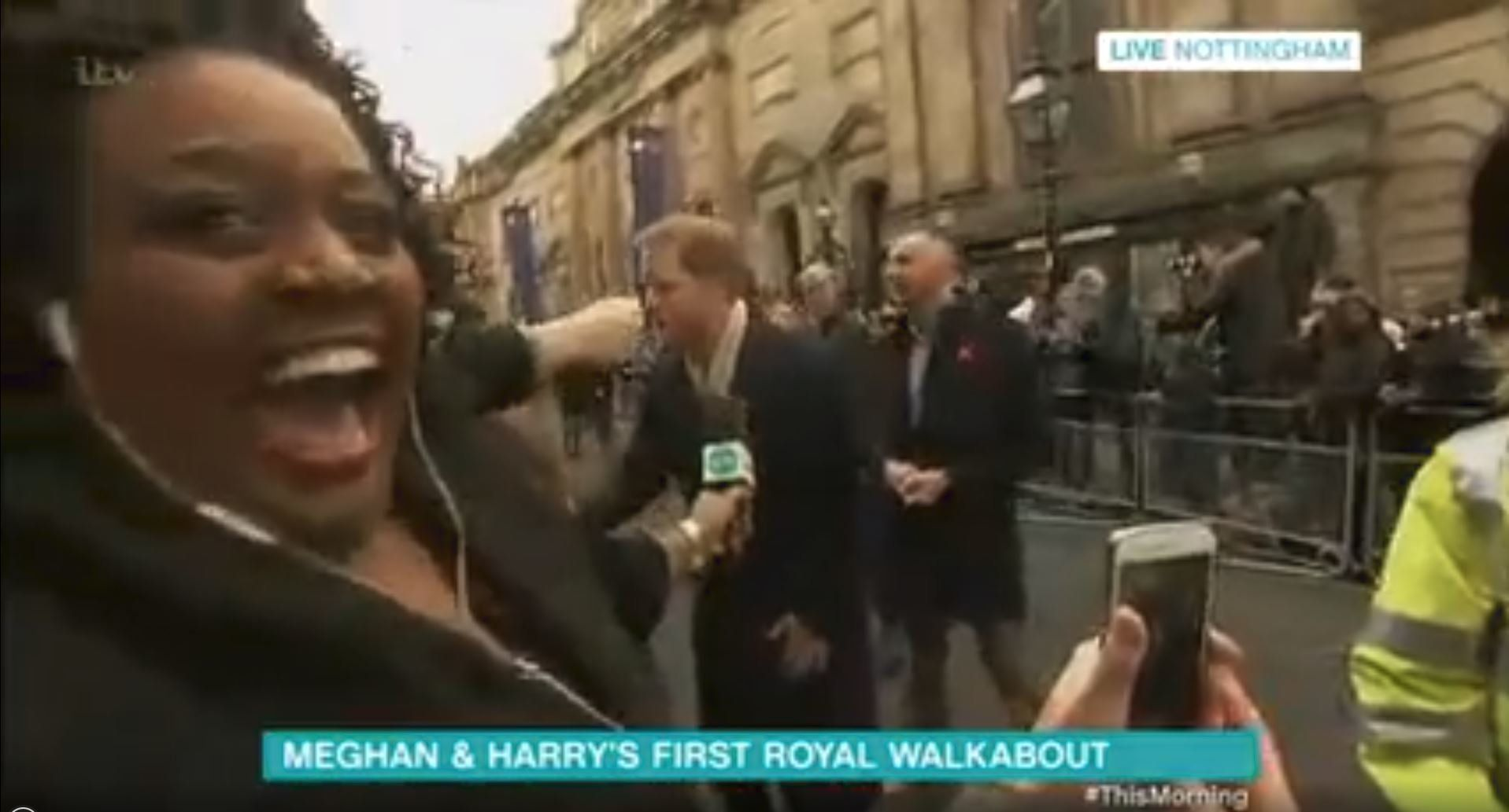 Alison Hammond couldn't contain her excitement as she covered Prince Harry and Meghan Markle's first...