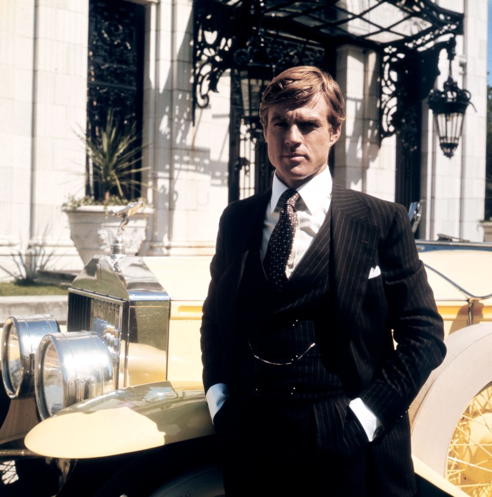 American actor Robert Redford on the set of The Great Gatsby based on the novel by F. Scott Fitzgerald,...