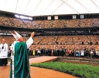 The Pope blessed thousands during a visit to Pontiac.