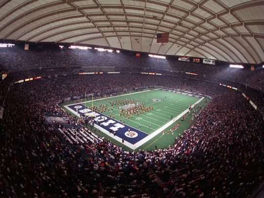 "The Lions theme song in 1980 was ""Another One Bites the Dust"" by Queen when they played at the Silverdome."