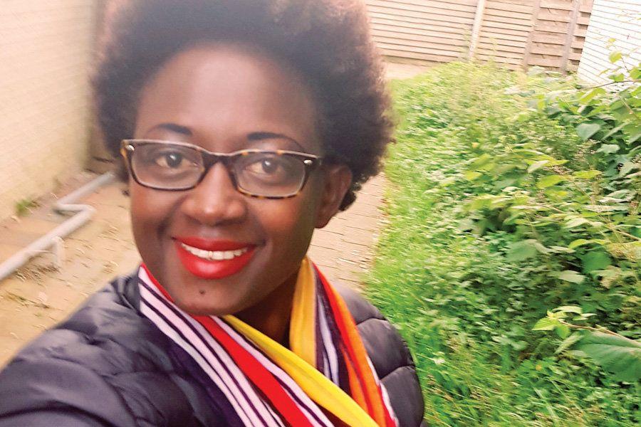 Eliane Becks Nininahazwe: On my way to Den Haag [The Hague] to get my visa so I can travel to Burundi, where I will provide H