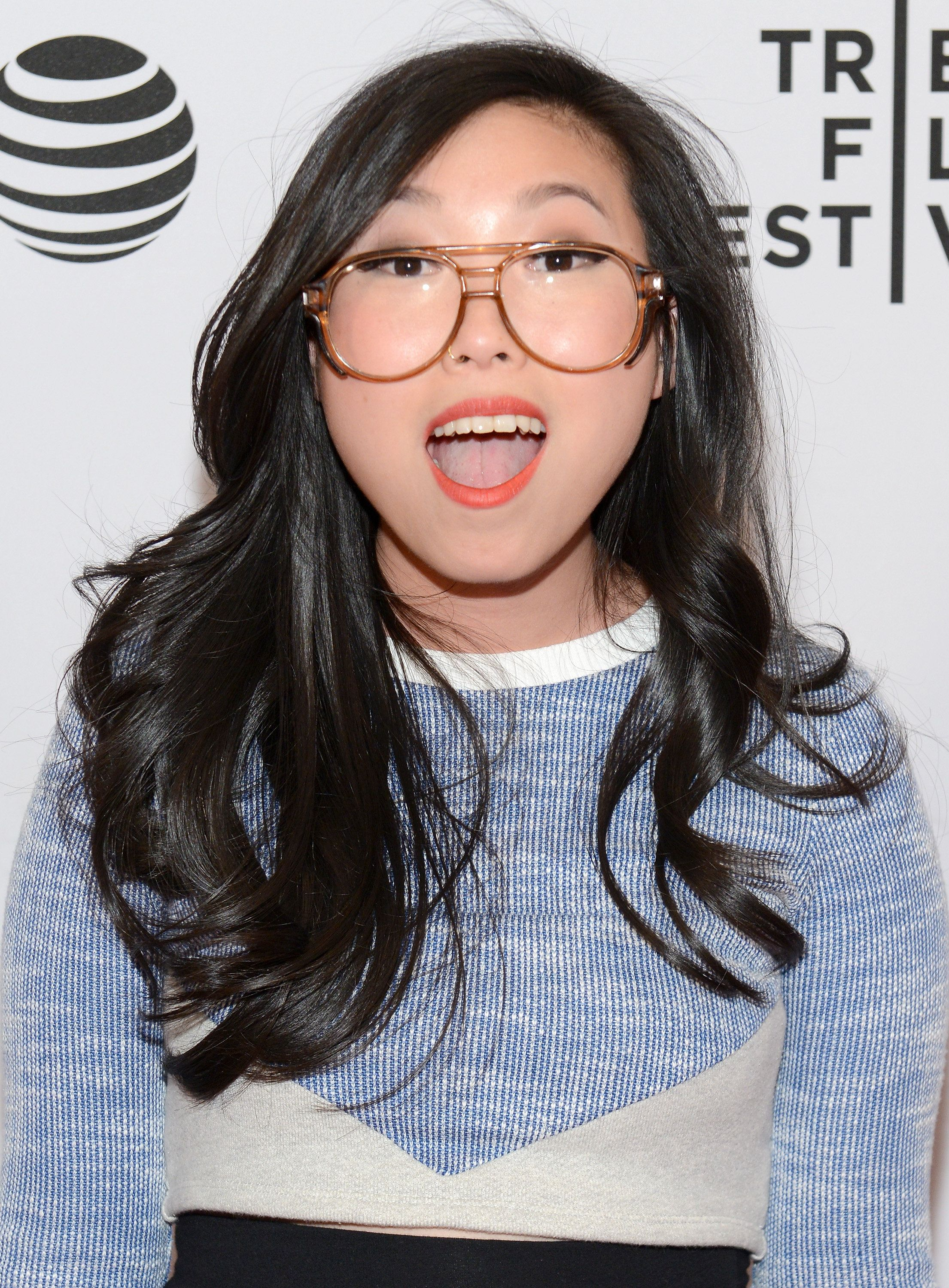 Rapper Awkwafina attends the 'Bad Rap' Premiere during the 2016 Tribeca Film Festival.