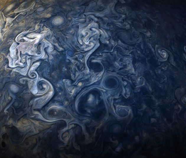 NASA's Juno Spacecraft Captures The Swirling Storms Of