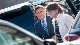 Gen. Michael Flynn, former national security adviser to US President Donald Trump, arrives at Federal Court December 1, 2017 in Washington, DC. Donald Trump's former national security advisor Michael Flynn appeared in court Friday after being charged with lying over his Russian contacts, as part of the FBI's probe into possible collusion between the Trump campaign and Moscow. / AFP PHOTO / Brendan Smialowski        (Photo credit should read BRENDAN SMIALOWSKI/AFP/Getty Images)