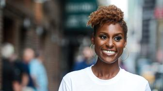 NEW YORK, NY - JULY 17:  Actress Issa Rae enters the 'The Late Show With Stephen Colbert' taping at the Ed Sullivan Theater on July 17, 2017 in New York City.  (Photo by Ray Tamarra/GC Images)