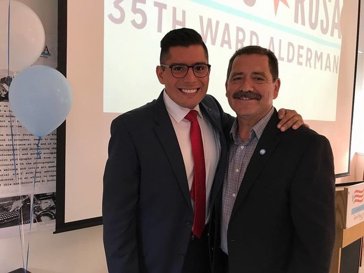 "Chicago Alderman Carlos Ramirez-Rosa (left) and Cook County Commissioner Jesús ""Chuy"" Garcia are both running to repla"