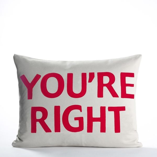 "<strong>A decorative pillow to end any argument. <br><br></strong><i>Buy it from <a href=""https://www.alexandraferguson."