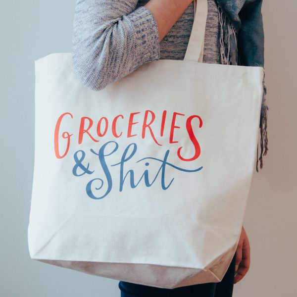 "<strong>You two can hit up the farmers market in style with this canvas tote.<br></strong><br><i>Buy it from <a href=""https:/"