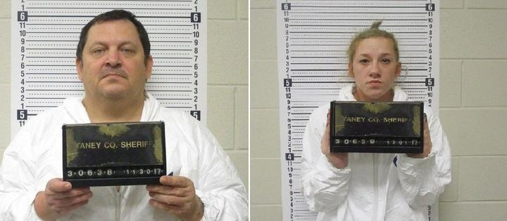 Aubrey Trail, left, and Bailey Boswell have been arrested in Missouri on charges unrelated to Sydney Loofe's disappearance.