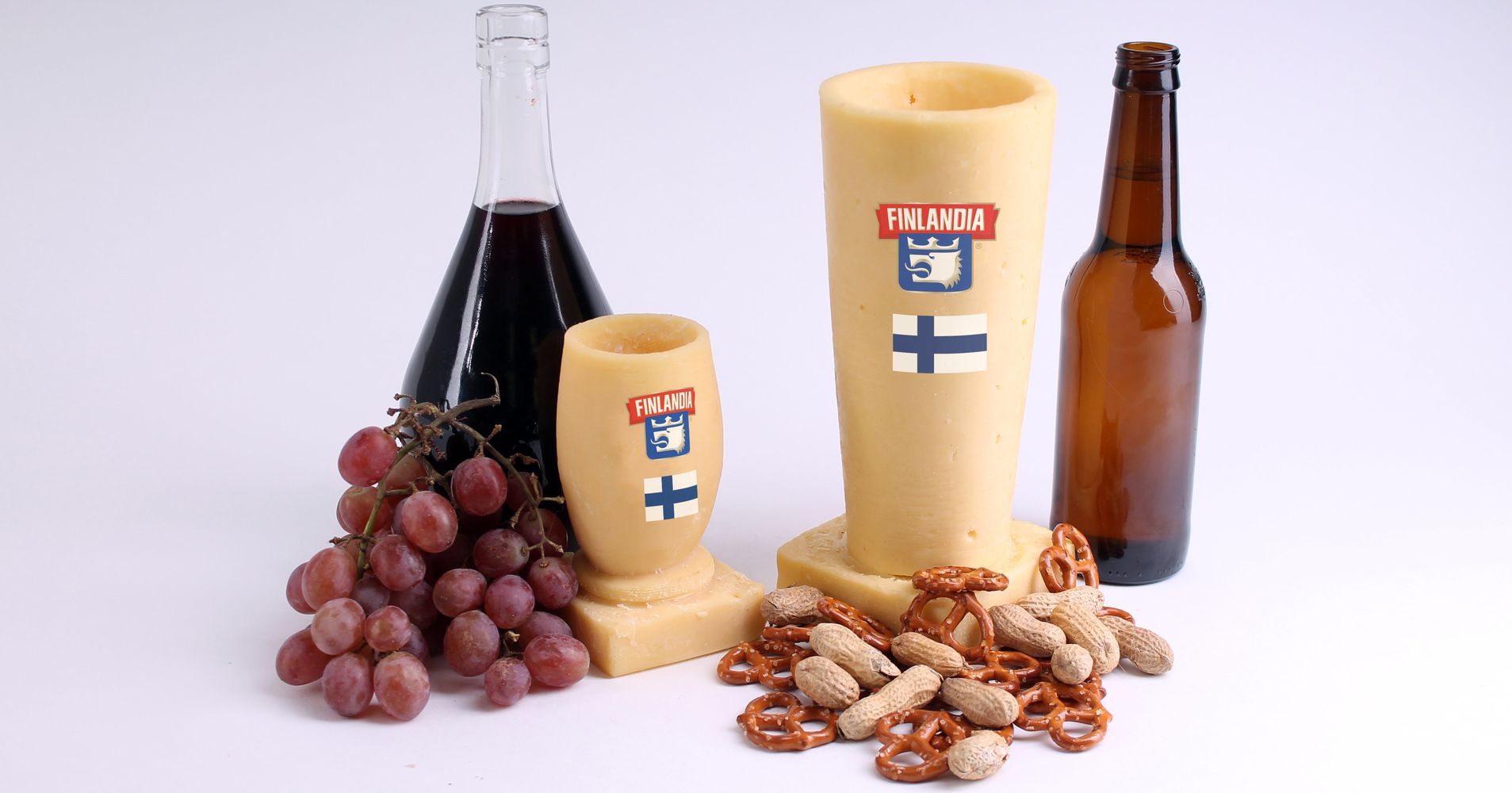 Wine and Beer Glass Set Made Of Cheese Worth $5000