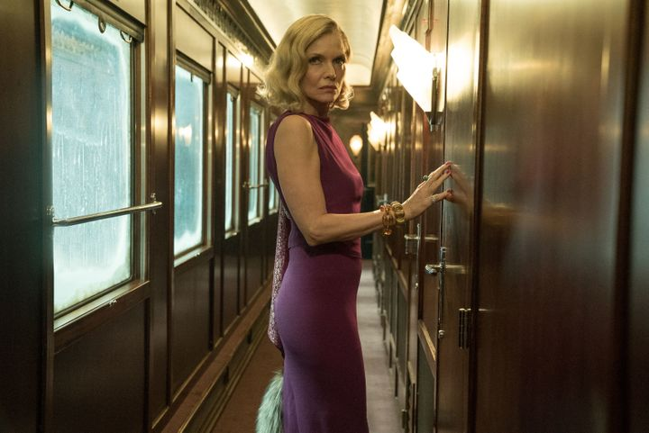 "Michelle Pfeiffer in ""Murder on the Orient Express."""