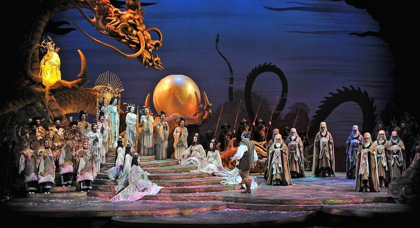 A scene from Allen Charles Klein&#39;s production of <strong><em>Turandot</em></strong> (a shared venture between several ope