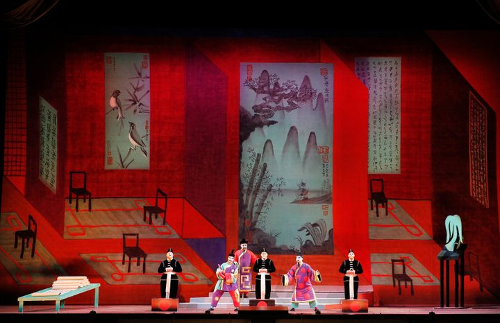 <p>A moment from Act II, Scene I of <strong><em>Turandot</em></strong> </p>