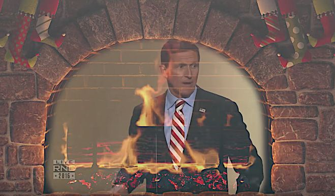 'The Daily Show' Yule Log Roasts Michael Flynn On An Open Fire