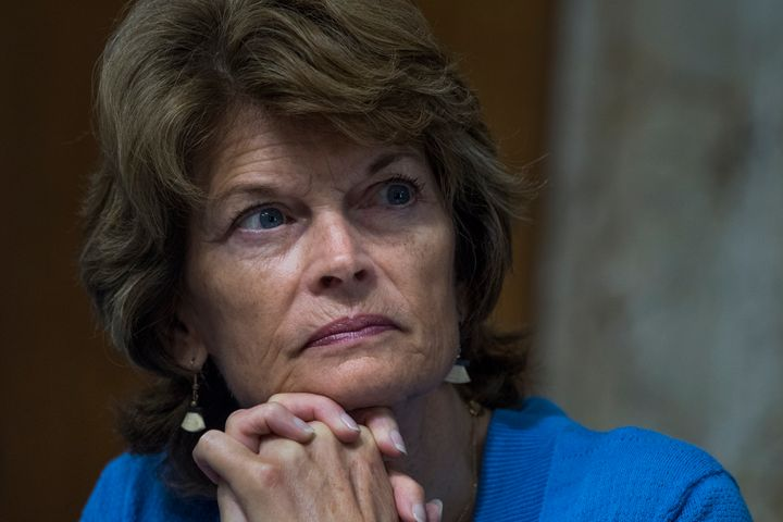 Sen. Lisa Murkowski (R-Alaska) oversees a Senate committee hearing, June 20, 2017.