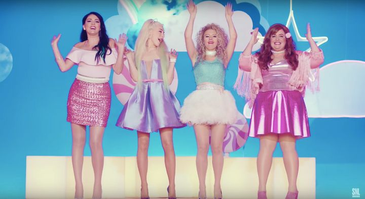 "The women of ""SNL"" tackle sexual harassment in a ""Welcome to Hell"" music video."