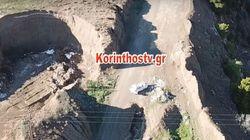 Περιβαλλοντικό «έγκλημα» στον Ισθμό Κορίνθου. Drone κατέγραψε δράστες να ξεφορτώνουν φορτηγό με
