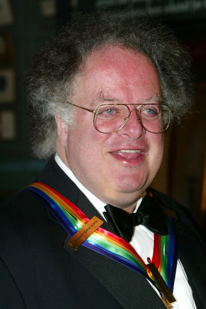 Levine was one of the recipients of the 2002 Kennedy Center Honors. He's seen here at a White House reception.