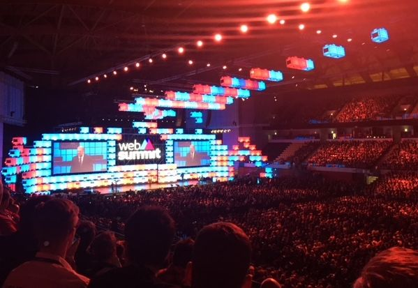 Al Gore speaks about climate change to a capacity crowd of 15,000 as closing keynote for WebSummit 2017.