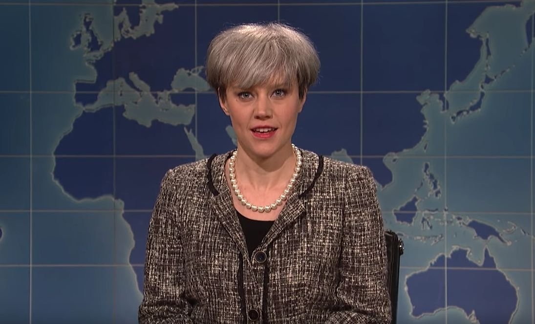 <strong>Kate McKinnon as Theresa May</strong>