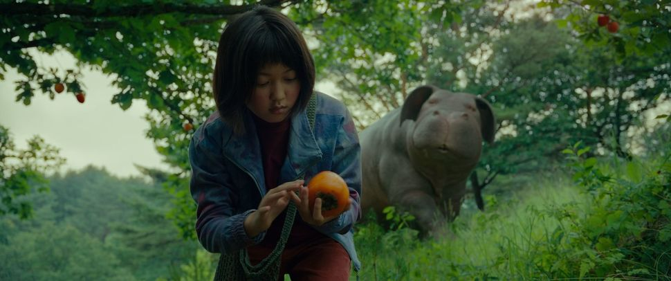"Whether you see it on a big or small screen, ""Okja"" is a marvel. Pet movies are a sure bet in Hollywood, but rarely are they"