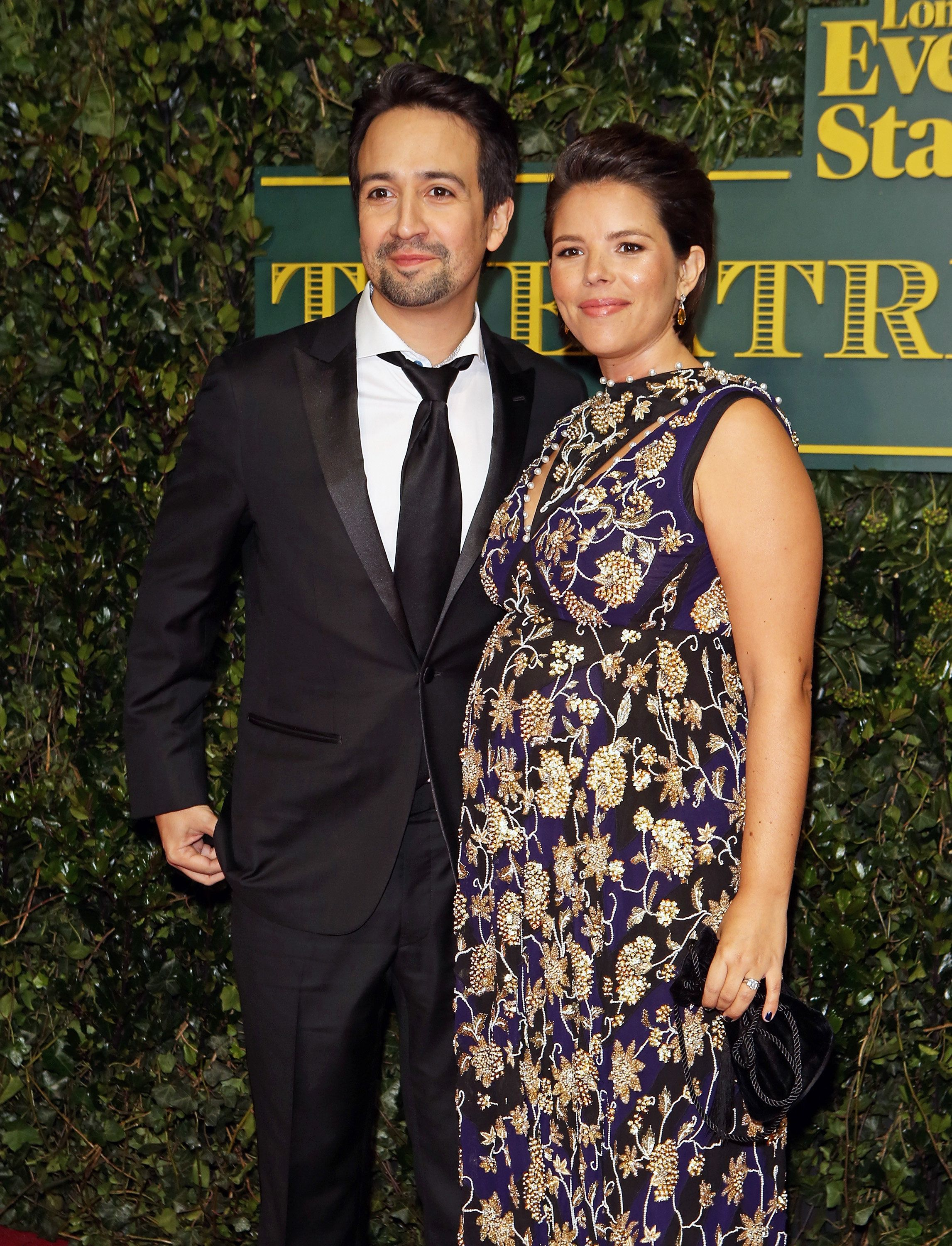 LONDON, ENGLAND - DECEMBER 03:  Lin-Manuel Miranda and Vanessa Nadal attend the London Evening Standard Theatre Awards at Theatre Royal on December 3, 2017 in London, England.  (Photo by David M. Benett/Dave Benett/Getty Images)