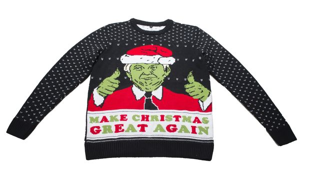 This Trump Christmas Jumper Promises To Make The Festive Season Great Again (And Raise Money For