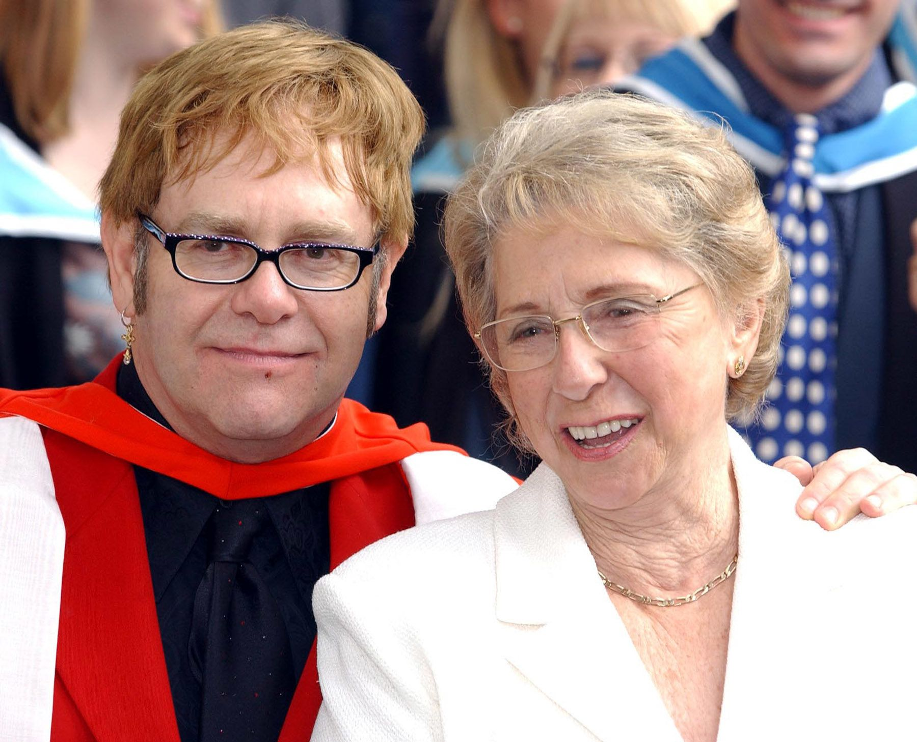 Elton John 'In Shock' Following The Death Of His Mother Sheila Farebrother