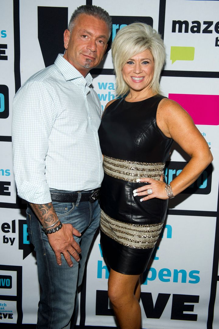 """Larry and Theresa Caputo visit """"Watch What Happens Live with Andy Cohen."""""""
