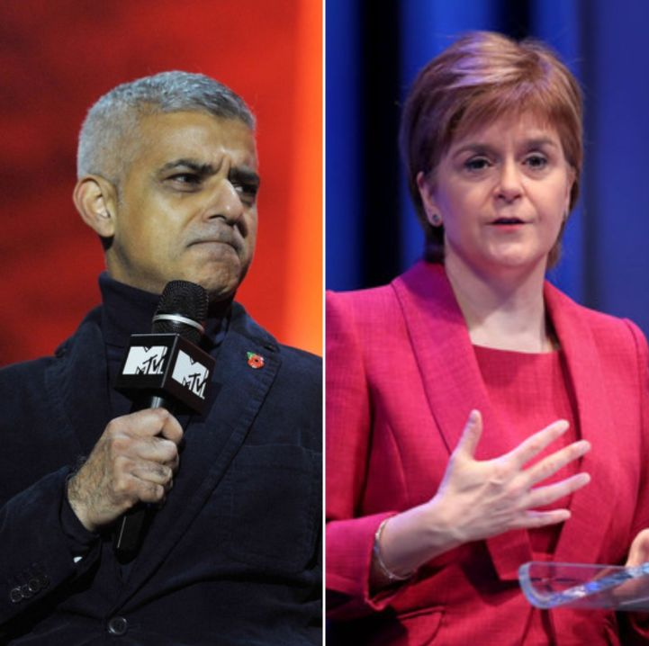 Nicola Sturgeon And Sadiq Khan Lead Calls For Special Brexit Measures For Remain