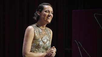 LONDON, ENGLAND - DECEMBER 03:  Phoebe Waller-Bridge speaks at the London Evening Standard Theatre Awards 2017 at the Theatre Royal, Drury Lane, on December 3, 2017 in London, England.  (Photo by David M. Benett/Dave Benett/Getty Images)